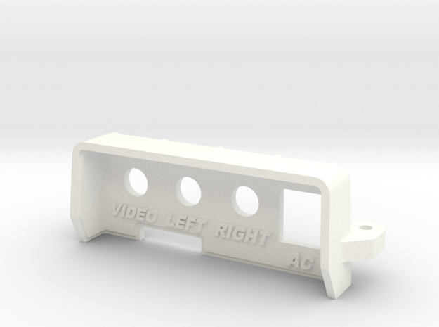 NES Top Loader RCA Rear Panel for Hi-Def NES  in White Processed Versatile Plastic