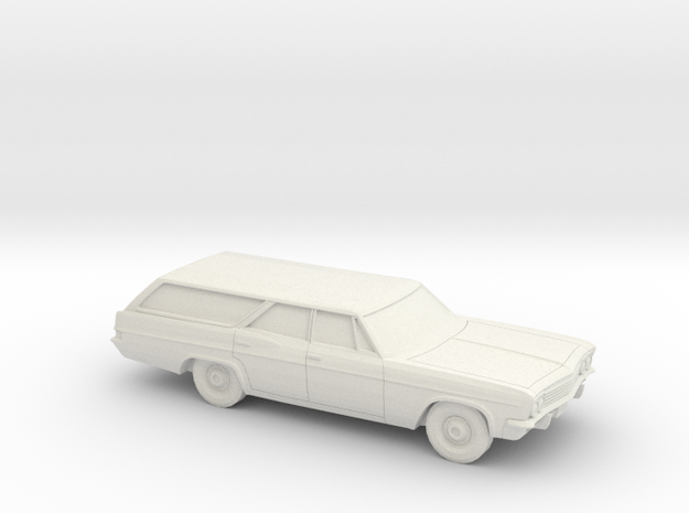 1/87 1965 Chevrolet BelAir Station Wagon in White Natural Versatile Plastic