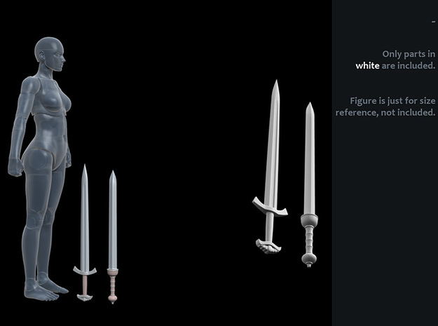 ACC-09-Swords 7inch MOTU v2.3 in White Strong & Flexible Polished