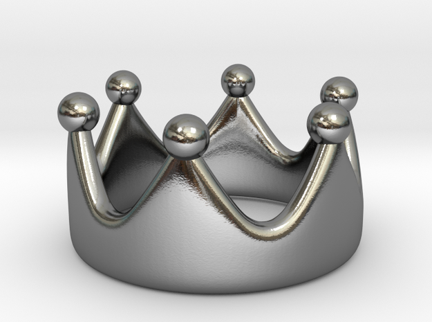 Crown Ring II in Polished Silver