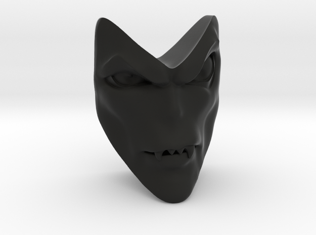 D&D Venger Closed Mouth Face in Black Strong & Flexible
