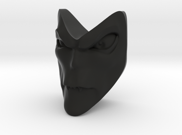 D&D Venger Closed Mouth 2 Face in Black Strong & Flexible