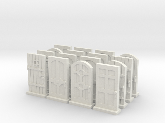 Mansions of Madness 2ed: Door Tokens in White Natural Versatile Plastic