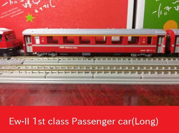 Passenger car type A-2L w/bogie in Smooth Fine Detail Plastic