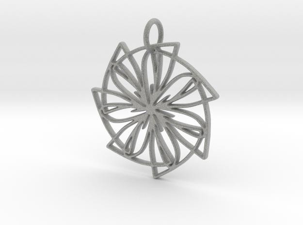 Lemon Slice Medium Pendant in Metallic Plastic