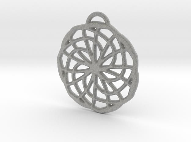 Labyrinth Pendant - Medium in Metallic Plastic