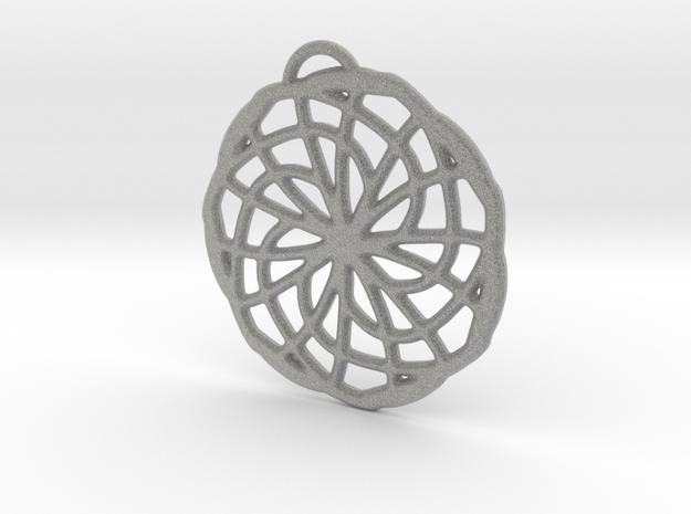 Labyrinth Pendant - Large in Metallic Plastic