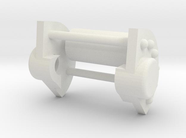 Katyusha Axle Cap 1:35 scale in White Natural Versatile Plastic