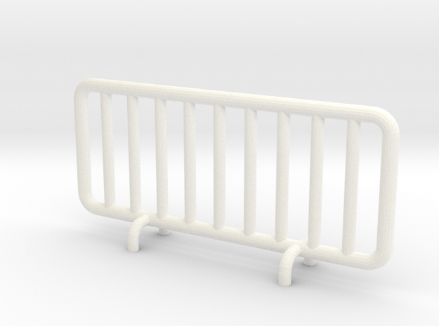 Transenna - Barrier in White Strong & Flexible Polished: 1:87 - HO