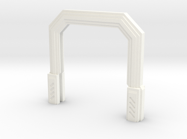 Imperial Assault Door Stand in White Strong & Flexible Polished