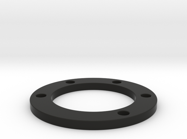 Spacer 6mm thick 50mm hole pattern in Black Natural Versatile Plastic