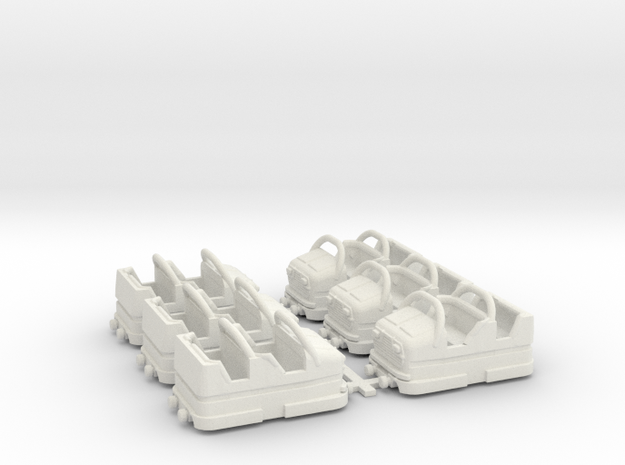 Zyklon6pack in White Natural Versatile Plastic