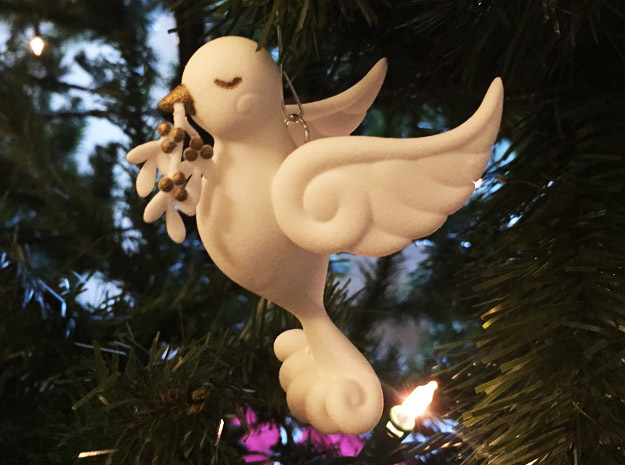 Dove Ornament in White Strong & Flexible
