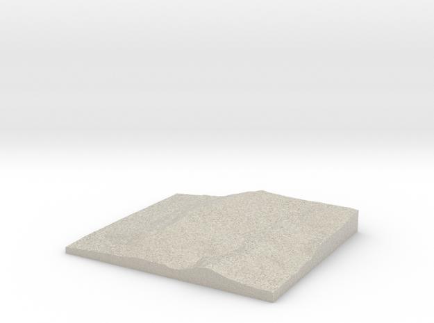 Model of Drenkel Field in Natural Sandstone