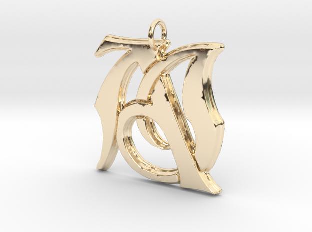 Monogramed Initials AJ Pendant