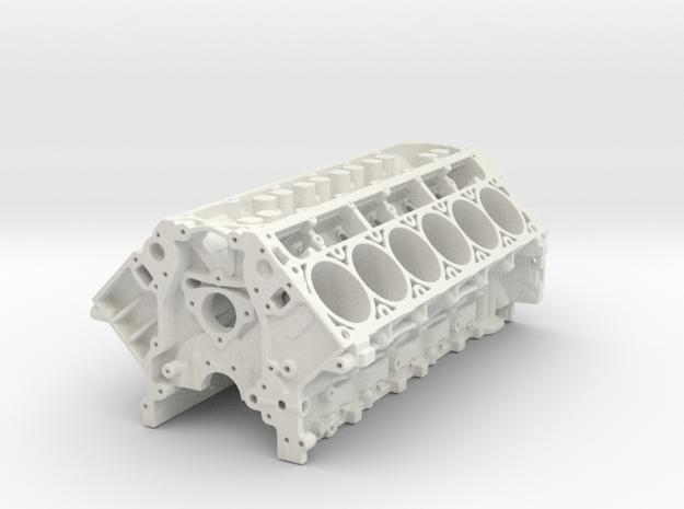 Ls3 V12 Block 1/12 in White Natural Versatile Plastic
