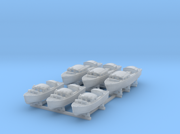 1/350 RN WW2 25ft & 35ft Fast Motor Boats (3 each) in Smooth Fine Detail Plastic