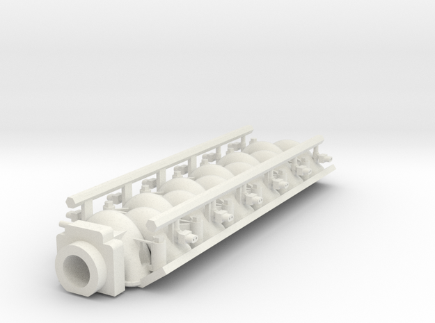 LS3 Intake FAST V12 W Fuel Rails 1/18 in White Natural Versatile Plastic