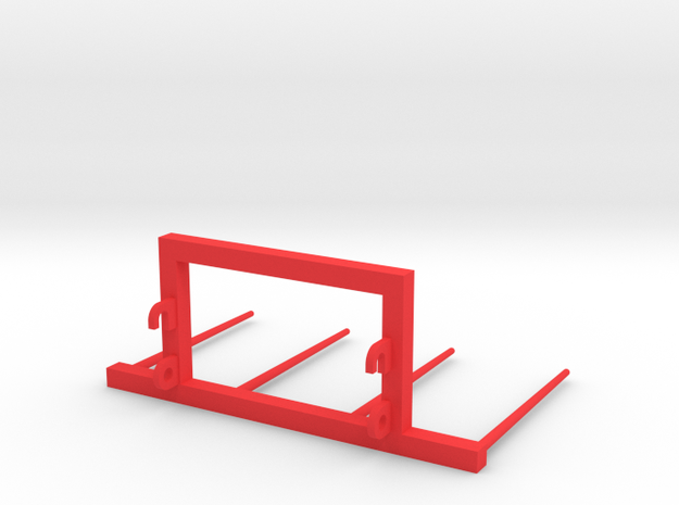 Bale fork frontloader 1/32 in Red Processed Versatile Plastic