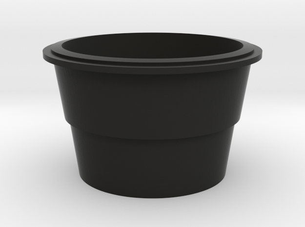 1/96 scale Burke Specific - Rear Stack in Black Natural Versatile Plastic