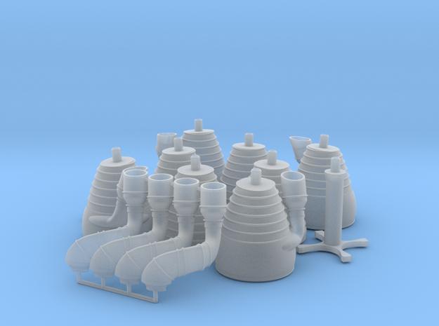 H-1 Engines (1:48 Saturn IB) SA-203 - SA-210 in Smooth Fine Detail Plastic