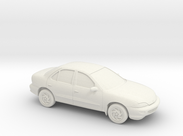 1/43 1998 Chevrolet Cavalier Sedan in White Natural Versatile Plastic