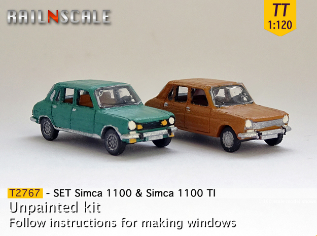 SET Simca 1100 & 1100 TI (TT 1:120) in Frosted Ultra Detail