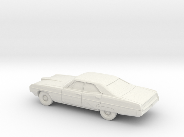 1/64 1968 Pontiac Bonneville Sedan in White Natural Versatile Plastic