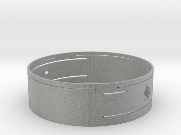 Lucky hand ring in Metallic Plastic