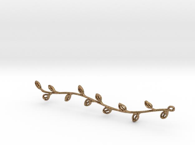 Branch Pendant in Raw Brass