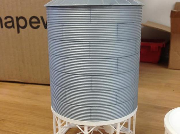 1/64 & 1/87 Hopper for RIX Products Bin in White Processed Versatile Plastic
