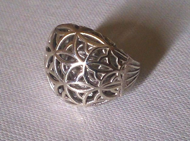 Leaf Ring size 7 (europ 55) in Polished Silver