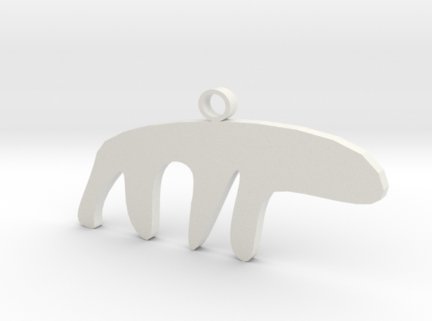 The Sneaky Polar Bear in White Natural Versatile Plastic