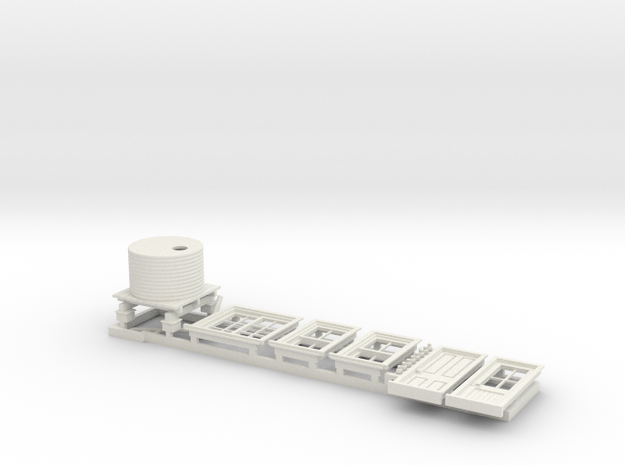 7mm RH Door Detail Parts for Platform Signal Box in White Strong & Flexible