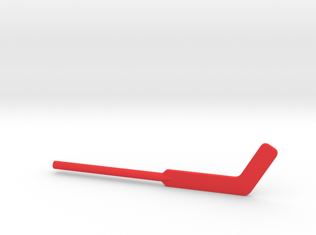 Hockey Goalie Stick for ModiBot in Red Strong & Flexible Polished