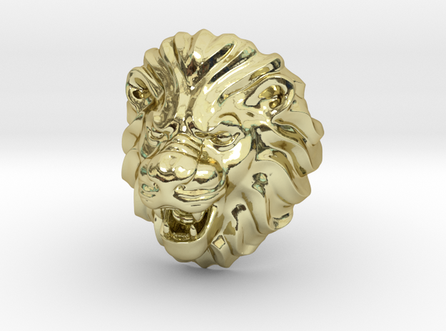 Lion ring Size 10.5 in 18k Gold Plated Brass: 10.5 / 62.75