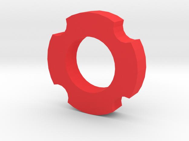 Fidget Spinner V3 in Red Processed Versatile Plastic
