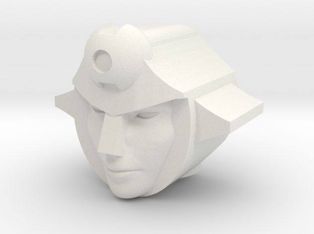 Firestar head for CW Pyra Magna/Onslaught in White Natural Versatile Plastic