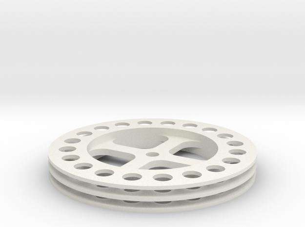 Seilscheibe in White Natural Versatile Plastic