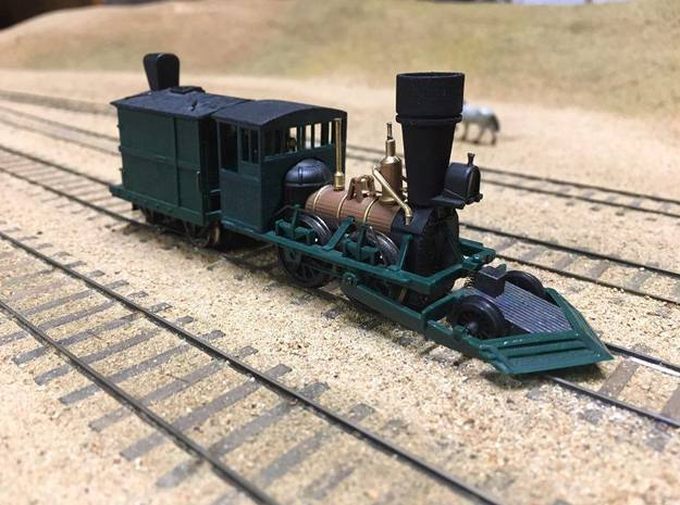 John Bull cab & stack (HO Scale) in Smooth Fine Detail Plastic: 1:87 - HO