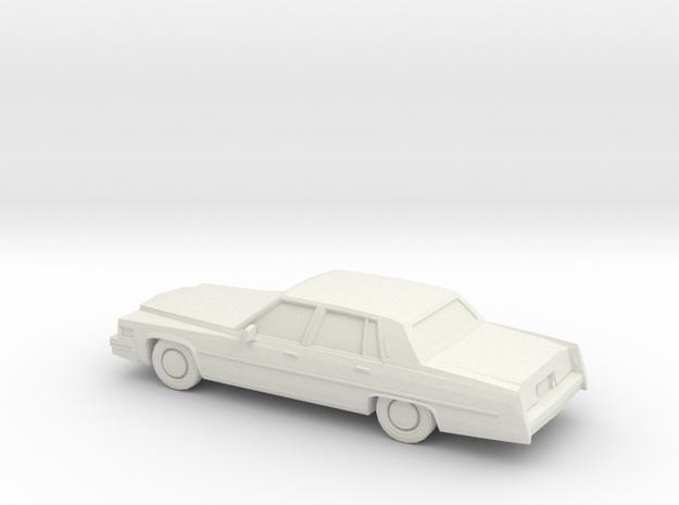 1/64 1977 Cadillac Fleetwood Brougham in White Natural Versatile Plastic