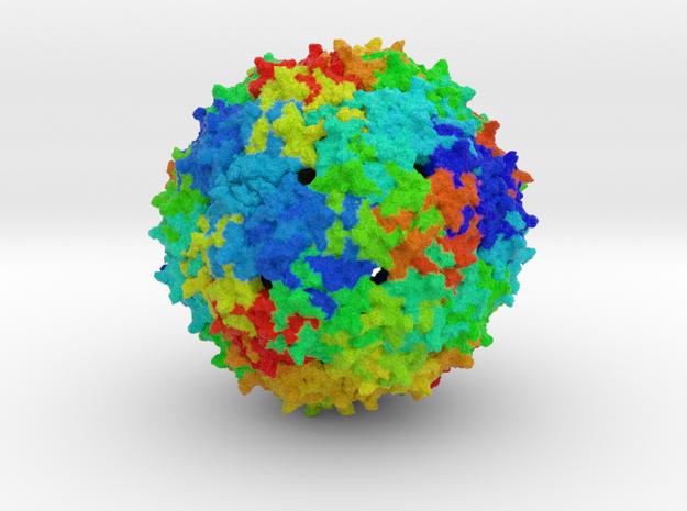 Bacteriophage GA in Full Color Sandstone