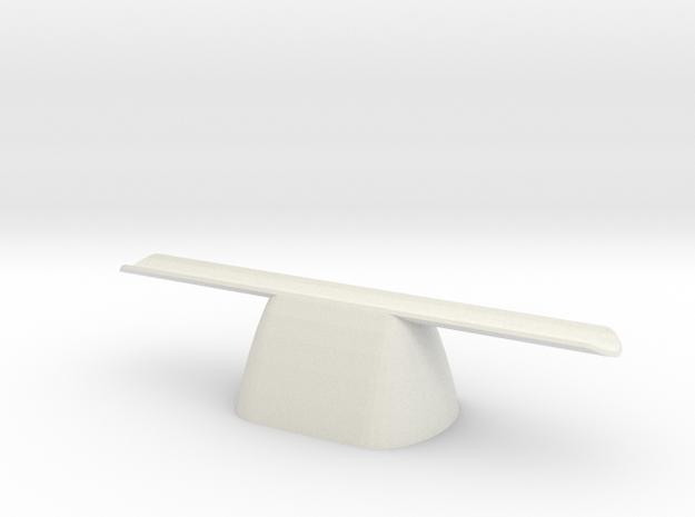 pen rest The Nibopedic X1 hollow in White Natural Versatile Plastic