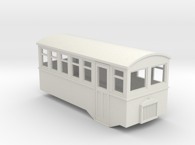 HOe 4 wheel railbus in White Strong & Flexible