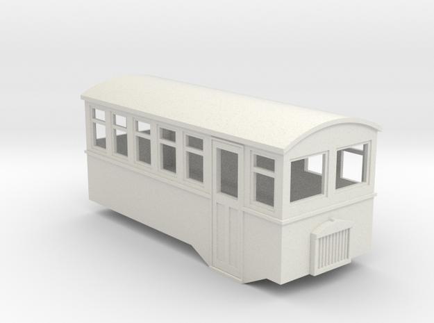 HOe 4 wheel railbus in White Strong & Flexible