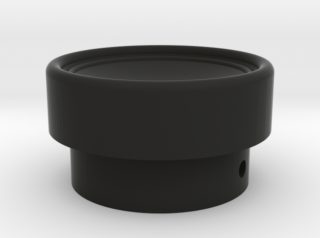 Russian HAT knob for CMS in Black Natural Versatile Plastic