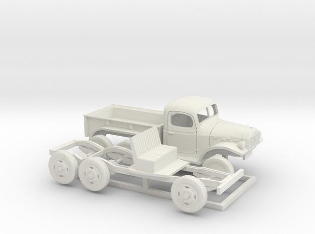 1/64 1945-50 Dodge Power Wagon PU Semi in White Natural Versatile Plastic