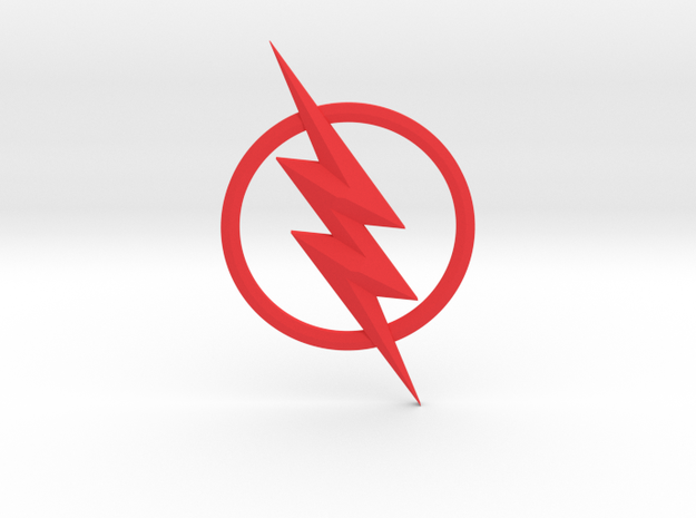 The Reverse Flash Emblem in Red Strong & Flexible Polished