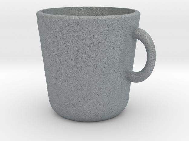 Cup in Polished Metallic Plastic