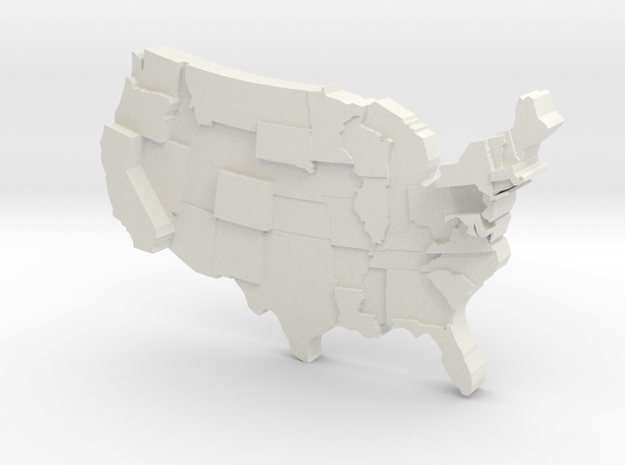 USA by Cost Of Living in White Natural Versatile Plastic